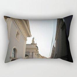 walkin through bressanone Rectangular Pillow