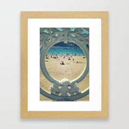 La Concha . Donosti beach Framed Art Print