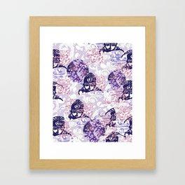 Qajar Faces Framed Art Print