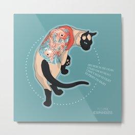Pets Ink - Siamois Metal Print