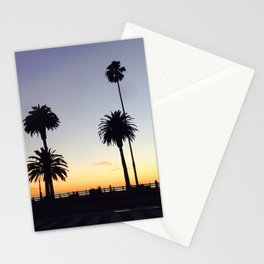 Palm Trees at Sunset Stationery Cards