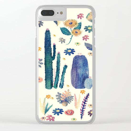 cactus king and queen 2 Clear iPhone Case