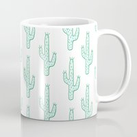 cactus Mugs featuring Cactus by Emma Winton