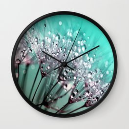 Dandelion Blue Diamonds Wall Clock
