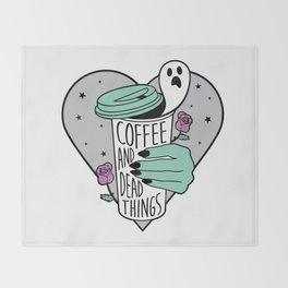 Coffee & Dead Things Throw Blanket