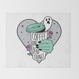 Coffee & Dead Things Throw Blanket