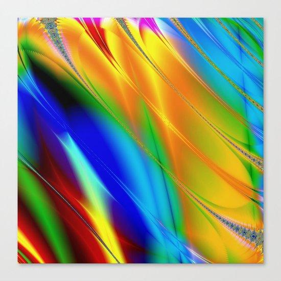 Digital art fractal colors Canvas Print