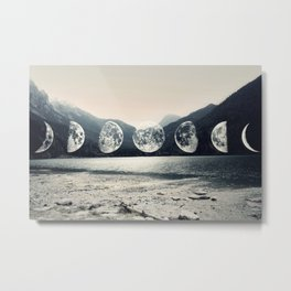 Moonlight Mountains Metal Print