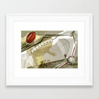 football Framed Art Prints featuring Football by Robin Curtiss
