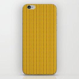 Yellow sweater pattern iPhone Skin