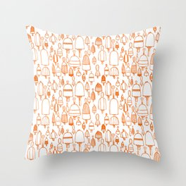 Buoyant Designs in Orange Throw Pillow