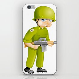 """Pacific Poster: """"Keep Calm and Stop Shooting"""". Funny Soldier iPhone Skin"""
