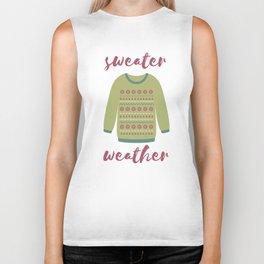 Sweater Weather Biker Tank