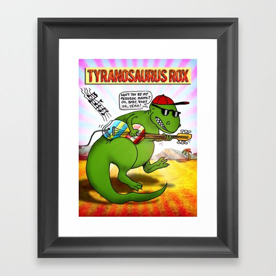Jurassic Rock Framed Art Print