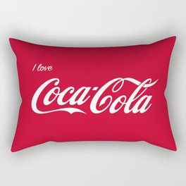I love cocoa cola red Rectangular Pillow