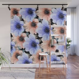 At Peace in My Garden: Floral Pattern Wall Mural