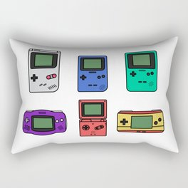 Evolution of Gameboy Rectangular Pillow
