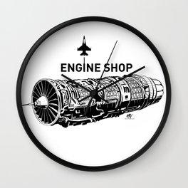 ENGINE SHOP - F16 Wall Clock