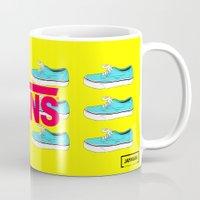 vans Mugs featuring Vans by Jayesh Jayman Joshi