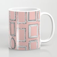 frames Mugs featuring picture frames mimosa by Sharon Turner