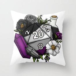 Pride Asexual D20 Tabletop RPG Gaming Dice Throw Pillow