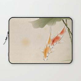 Koi fishes in lotus pond Laptop Sleeve