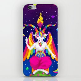 1997 Neon Rainbow Baphomet iPhone Skin