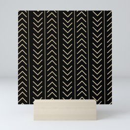 Mudcloth Black Mini Art Print