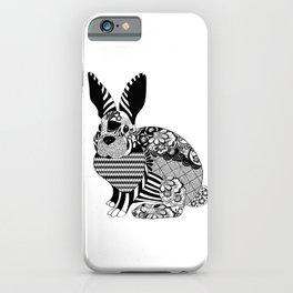 Rabbit floral iPhone Case