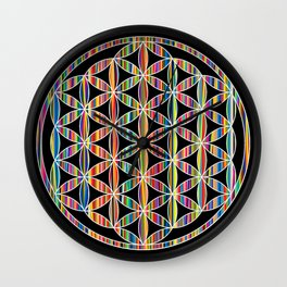 Flower of Life Colored | Kids Room | Delight Wall Clock