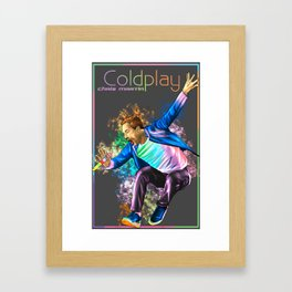 Chris Martin Coldplay2017 a head full of dreams tour Framed Art Print