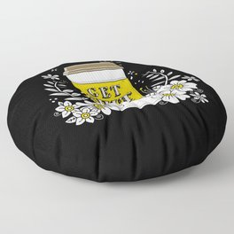 Drink Coffee, Get Shit Done Floor Pillow
