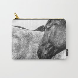 Horses Black and white Photo Carry-All Pouch