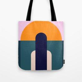 Sun Gazing Girl Tote Bag
