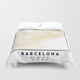 BARCELONA SPAIN CITY STREET MAP ART Duvet Cover