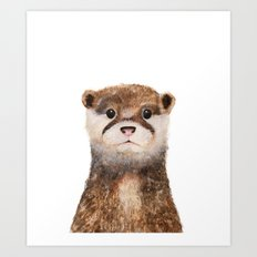 Little Otter Art Print