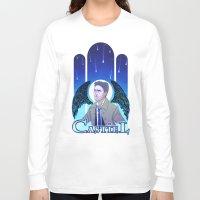 castiel Long Sleeve T-shirts featuring Castiel by enerjax