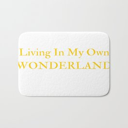 Living In My Own Wonderland in Yellow Bath Mat