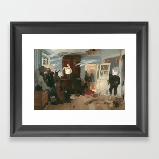The House of the Last Cartridge Framed Art Print