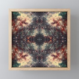 Space Mandala 30 Framed Mini Art Print