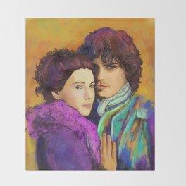 Jamie & Claire Throw Blanket