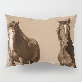 Wild_Horses Sepia 3501 - Nevada Pillow Sham