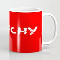 anarchy Mugs featuring ANARCHY by lucborell