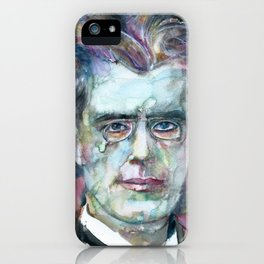 GUSTAV MAHLER - watercolor portrait.4 iPhone Case