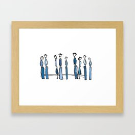 Blue People Framed Art Print