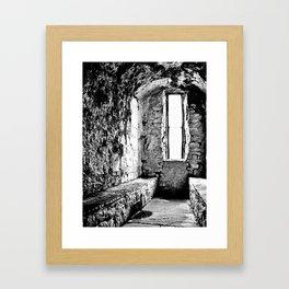 Castle Window B&W Framed Art Print