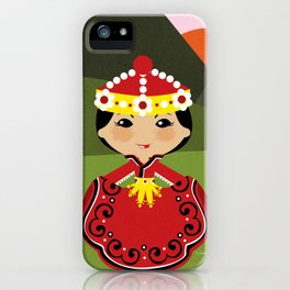 Girls of the World: Mongolia iPhone Case