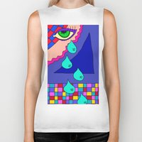 blankets Biker Tanks featuring Abstract 34 by Linda Tomei