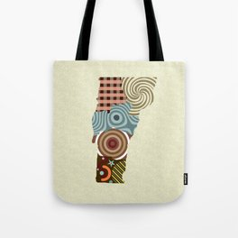 Vermont State Map Tote Bag