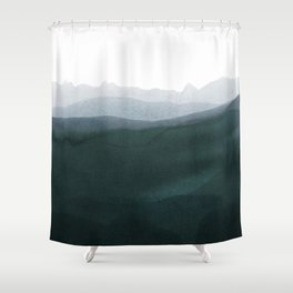 mountain horizon 3 Shower Curtain